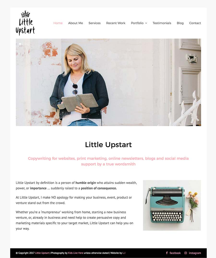 Website Design - Lucy Jordanoff