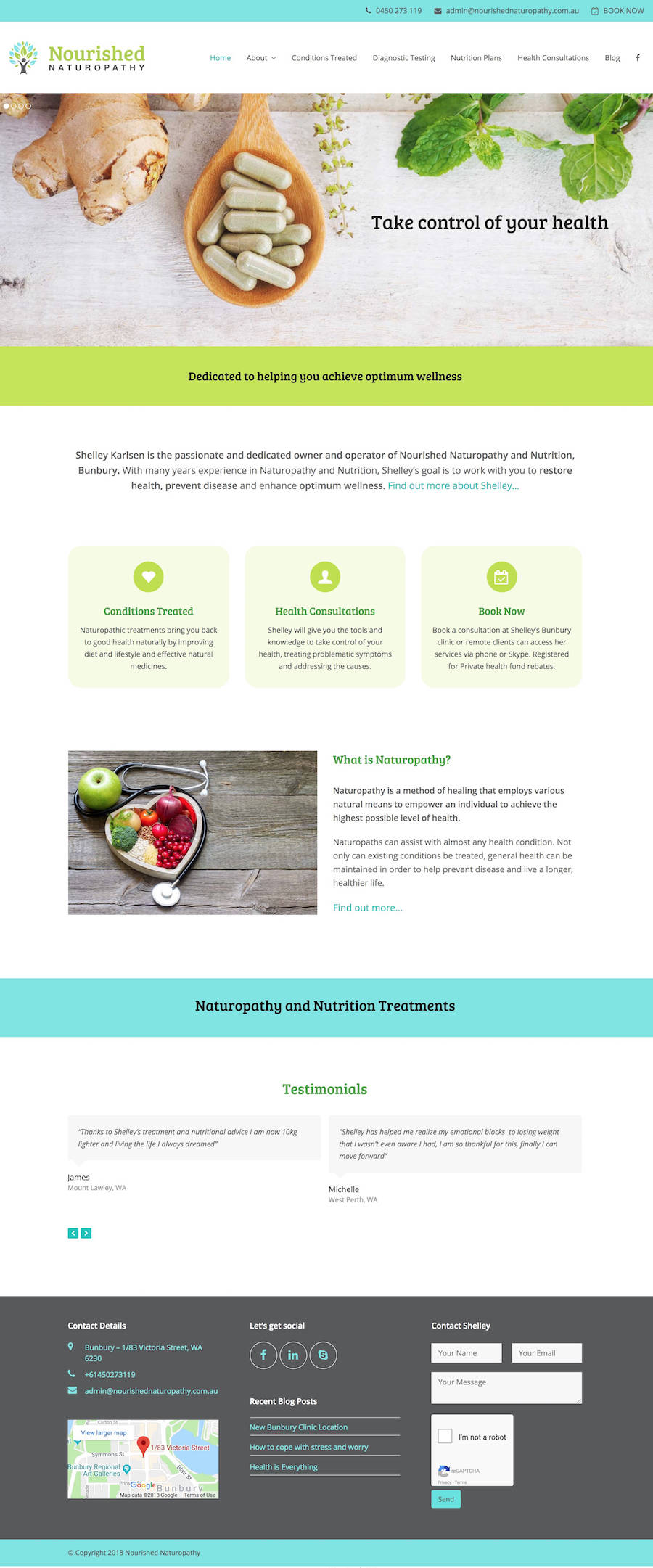 Nourished Naturopathy Website Design