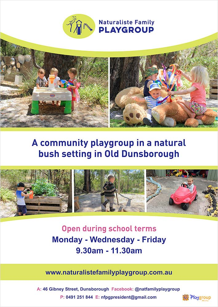Naturaliste Family Playgroup Poster Design