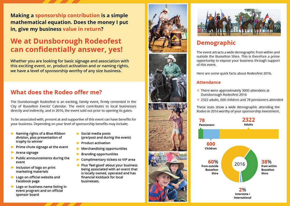 Dunsborough Rodeofest Brochure Design