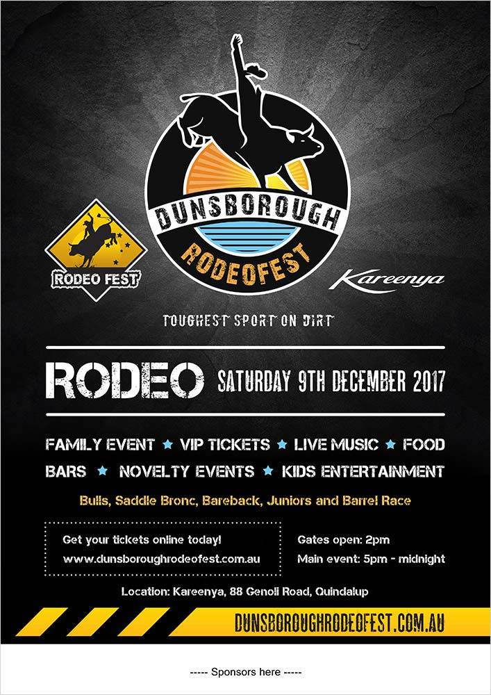 Dunsborough Rodeofest Poster Design