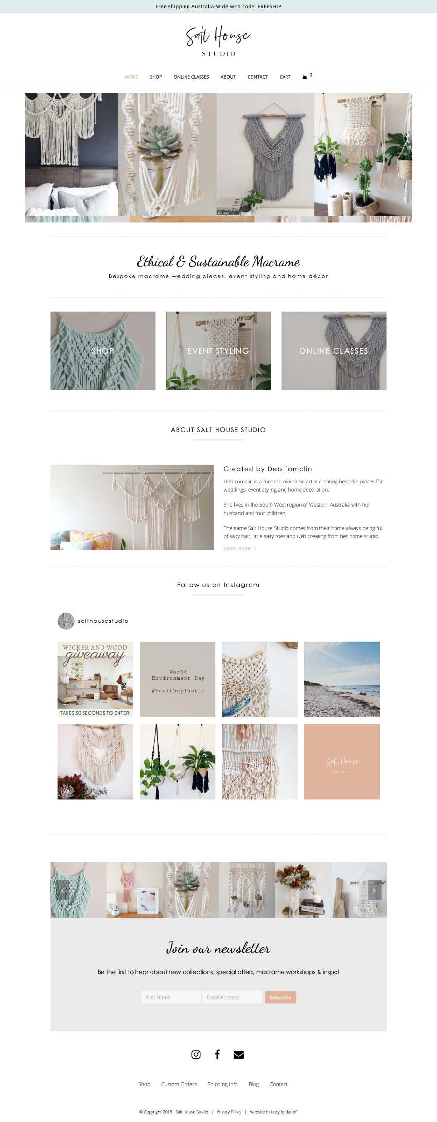 Salt House Studio Web Design Lucy Jordanoff
