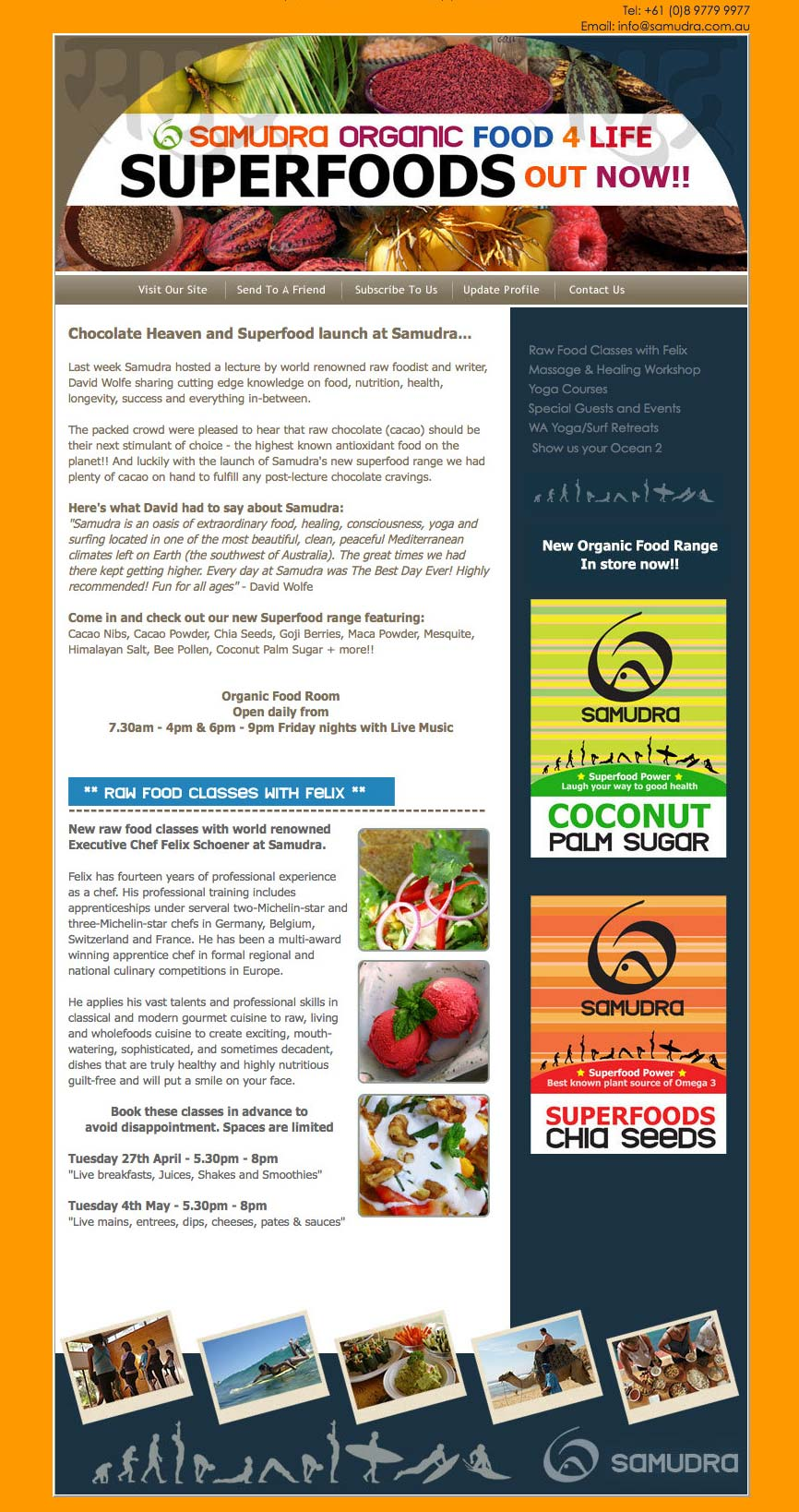 E-Newsletter Design - Lucy Jordanoff