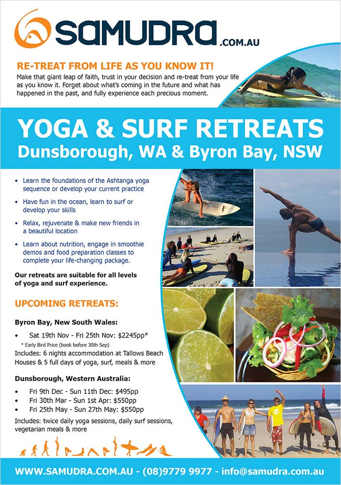 Surf Retreat Poster Design - Lucy Jordanoff