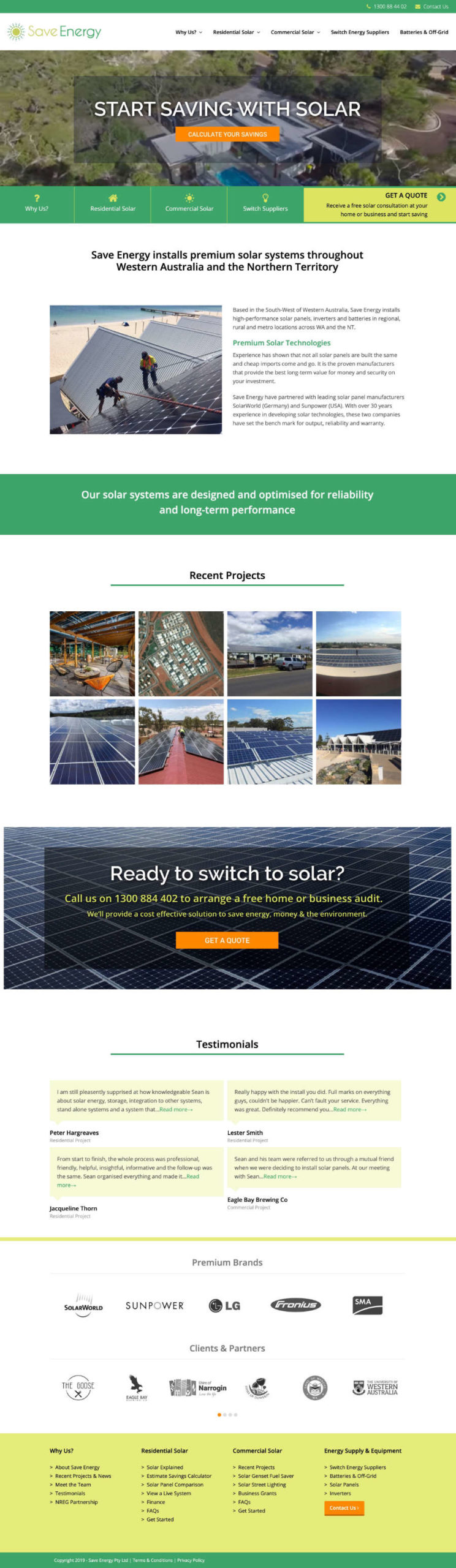 Save Energy Website design by Lucy Jordanoff
